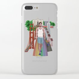 Men of the San-Francisco and Castro District Clear iPhone Case