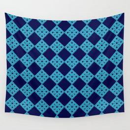 blue crochet crafts Wall Tapestry