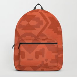 Geometric Aztec in Chile Red Backpack