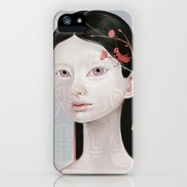 Japanese Black Blossom iPhone Case