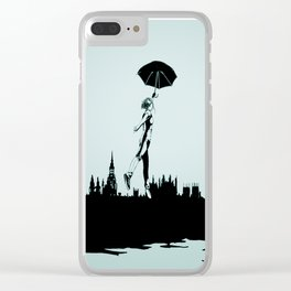 Crossing the Thames Clear iPhone Case