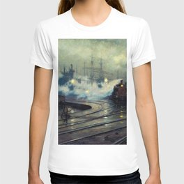 Classical Masterpiece Cardiff Docks by Lionel Walden, circa 1894 T-shirt