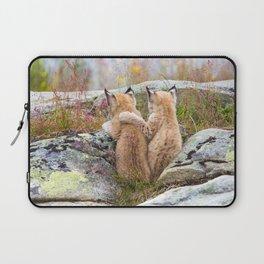 Lynx kittens - sister love Laptop Sleeve
