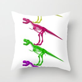 T-Rex Bones Throw Pillow