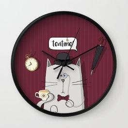 English cat Wall Clock