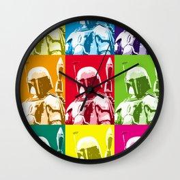 Boba Fett Popart Wall Clock