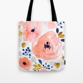 Genevieve Floral Tote Bag