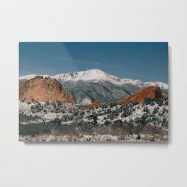 Snowy Mountain Tops Metal Print