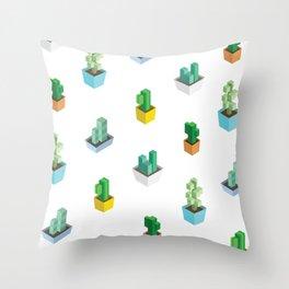 Cactus Cubes Throw Pillow