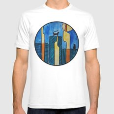 night roof SMALL White Mens Fitted Tee