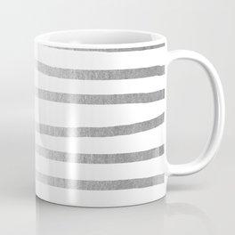 Simply Drawn Stripes Moonlight Silver Coffee Mug