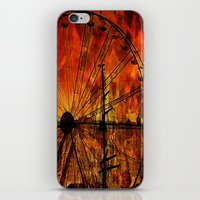 ferris wheel iPhone & iPod Skins featuring Ferris wheel by  Agostino Lo Coco