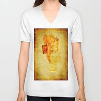 once upon a  time V-neck T-shirts featuring Once upon a time ... by Ganech joe