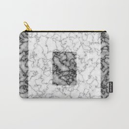 Black and white marble texture 3 Carry-All Pouch