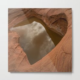 Natural Sandstone Heart - Valley_of_Fire State_Park, NV Metal Print
