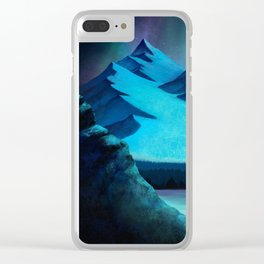 Aurora Borealis In The Mountain Pass Clear iPhone Case