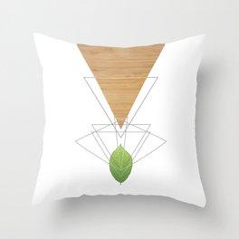 Geometric Leaf Throw Pillow