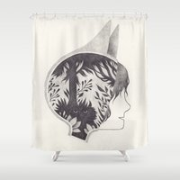 wild things Shower Curtains featuring wild by yohan sacre