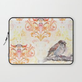 Sparrow in a Damask Autumn Laptop Sleeve