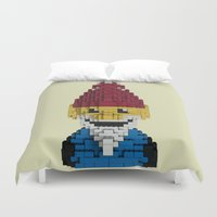 gnome Duvet Covers featuring Roaming Gnome by JaredAndrz