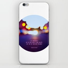 Live your dreams iPhone Skin