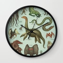 CRYPTIDS Wall Clock