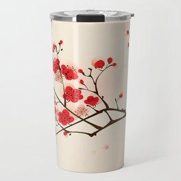 Oriental plum blossom in spring 009 Travel Mug