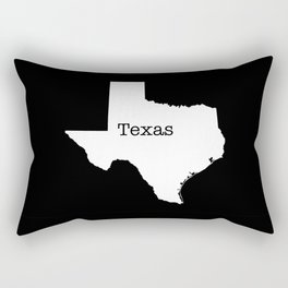 Cartography of the famous State of Texas Rectangular Pillow