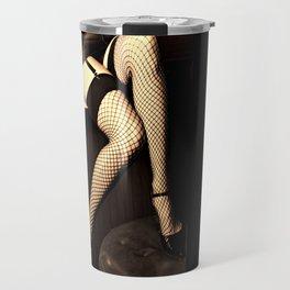 netting no. 1, sepia and gold Travel Mug