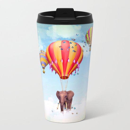 Elephant first fly Metal Travel Mug