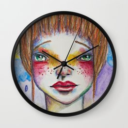 The Greater Your Storm, The Brighter Your Rainbow Wall Clock