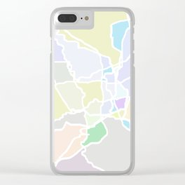 Pathways abstract art Clear iPhone Case
