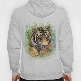Tiger Watercolor Portrait Hoody