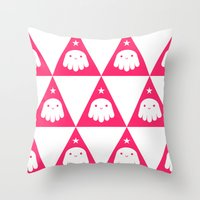 wizard Throw Pillows featuring Wizard by Momo & Sprits