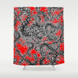 Centipede party Shower Curtain