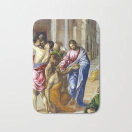 El Greco Christ Healing the Blind Bath Mat