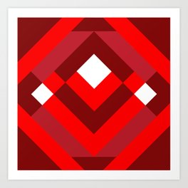 Diamond Red Art Print