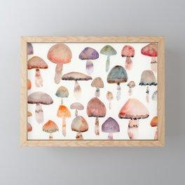 Watercolor Mushrooms Framed Mini Art Print
