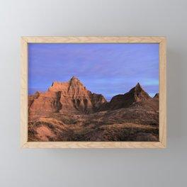 Winter Sunrise in Badlands National Park of South Dakota Framed Mini Art Print