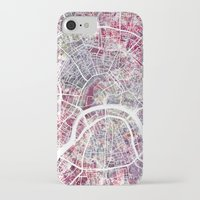moscow iPhone & iPod Cases featuring Moscow by MapMapMaps.Watercolors