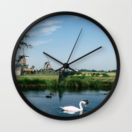 A Beautiful Dutch Scene Wall Clock