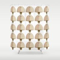 mushroom Shower Curtains featuring Mushroom by Mister Linus