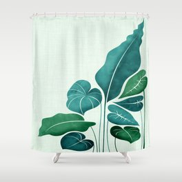 Cacophony in Teal Shower Curtain