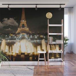 Eiffel Tower at Night Wall Mural