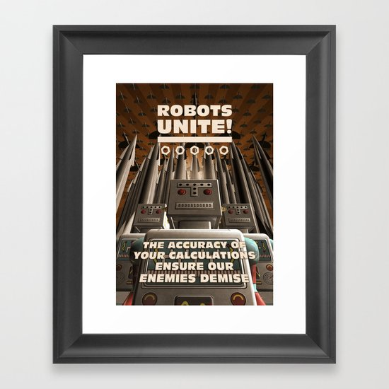 Robots Unite Framed Art Print