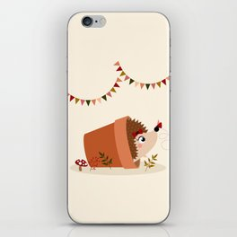 Hérisson et papillon iPhone Skin