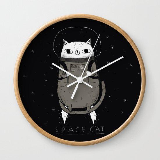 space cat Wall Clock
