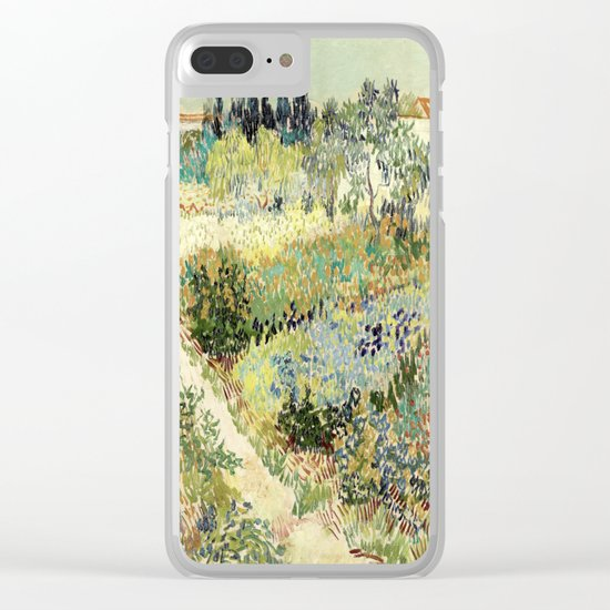 Vincent Van Gogh : Garden at Arles Clear iPhone Case