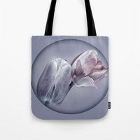 silver Tote Bags featuring SILVER by INA FineArt