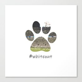 #whiteout Canvas Print